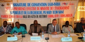 Signature de la nouvelle Convention - Mai 2015 - UGB de Saint Louis, Sénégal